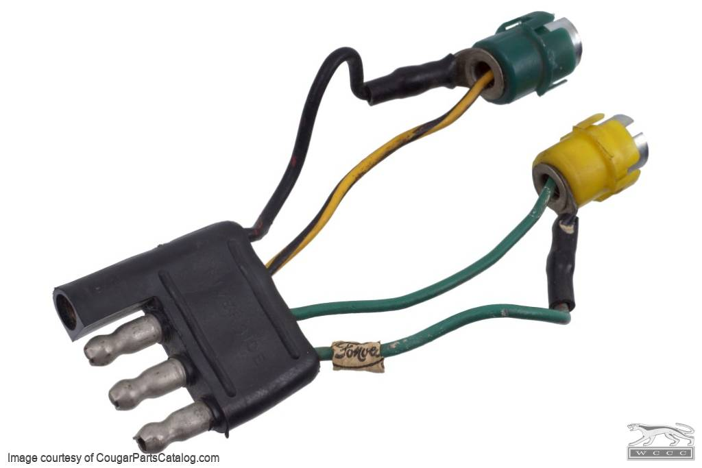 4 Pin Connector - Overhead Console and Repair Harness - Used Fits: 1967 -  1968 Mercury Cougar / 1967 - 1968 Ford Mustang
