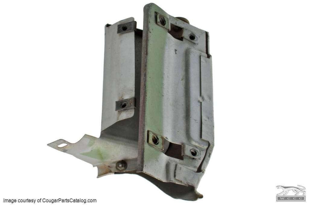 Support - Grille Center - Vertical - Driver Side - Used ~ 1971 - 1972 Mercury Cougar - 27572