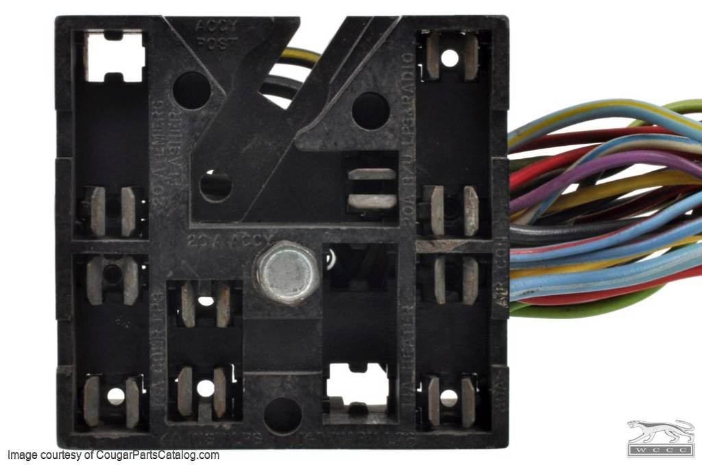Wiring Fuse Block - W   Wire Leads - Xr7