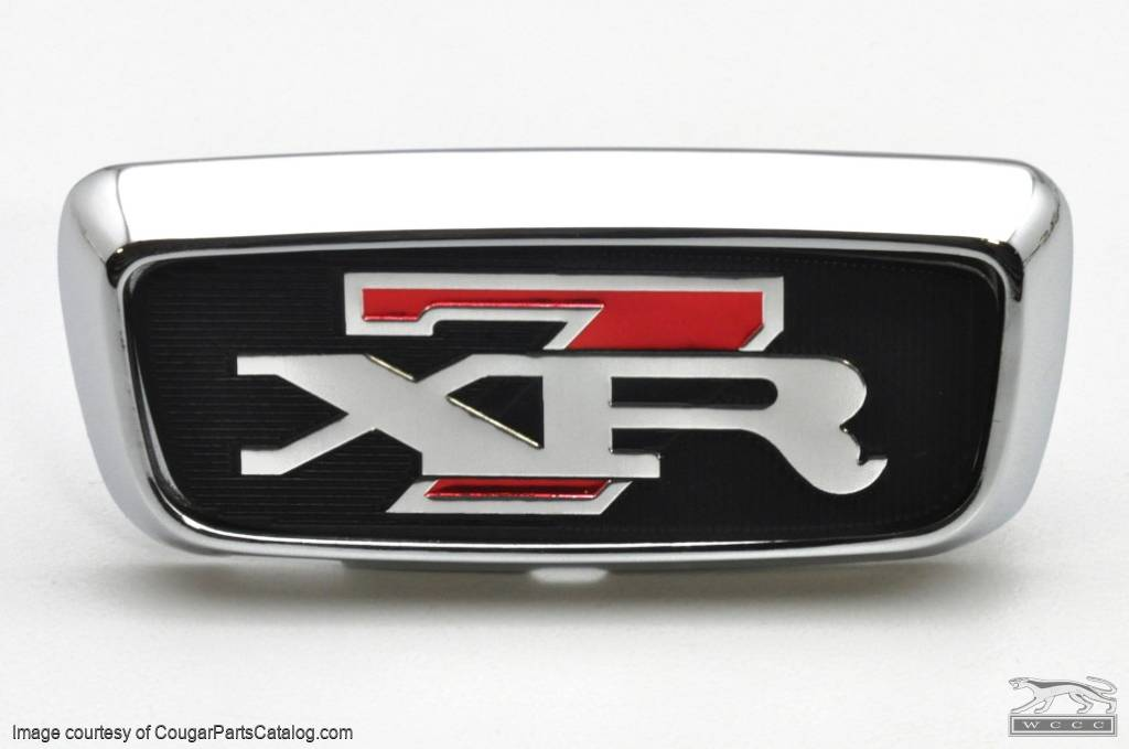 Trunk Lock Cover Plate - XR7 - w/ XR7 Decal - Repro ~ 1968 Mercury Cougar - 23986