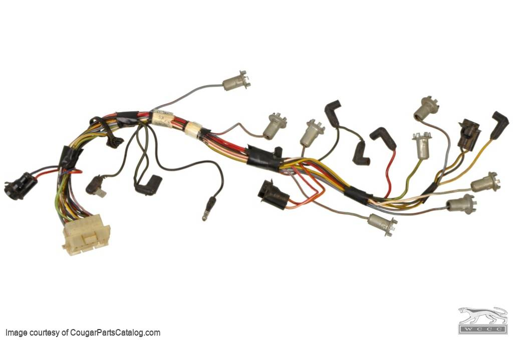 Instrument Cluster - Socket and Wiring Assembly - Standard - Used ~ 1967 Mercury Cougar - 20521