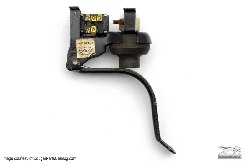 Foot Pedal Pump - Windshield Washer - Complete Assembly - Used ~ 1967 - 1968 Mercury Cougar / 1967 - 1968 Ford Mustang - 24217