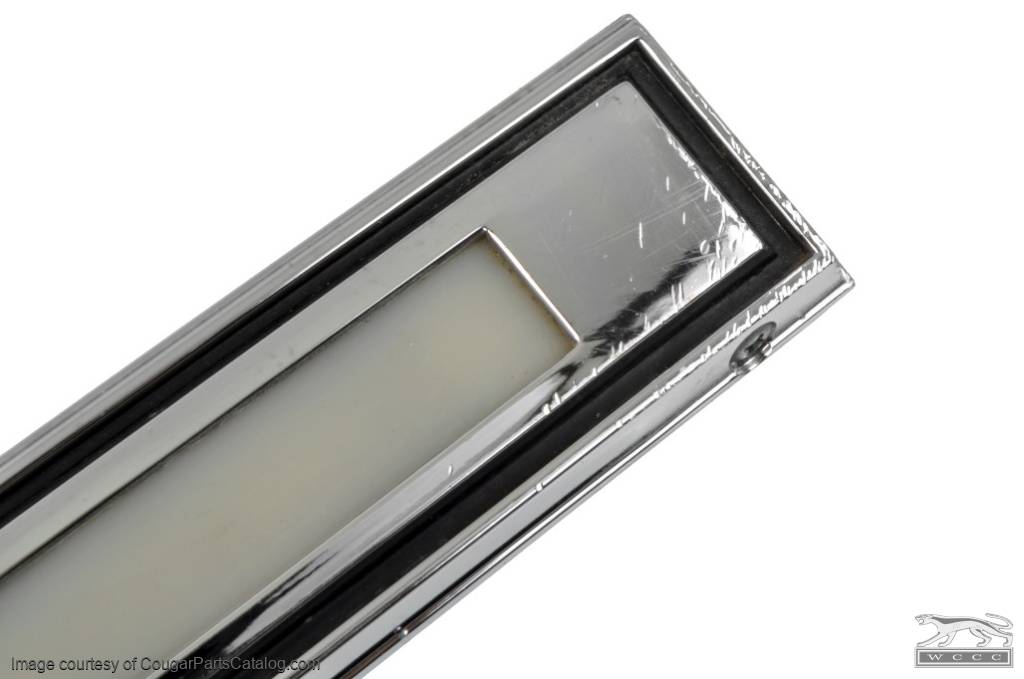 Courtesy Light Assembly - Door - Driver Side - Grade B - Used ~ 1969 - 1970 Mercury Cougar / 1969 - 1970 Ford Mustang - 24715