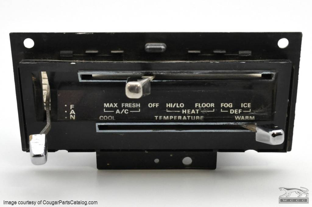 Air Conditioning Control Assembly - Used ~ 1969 - 1970 Mercury Cougar / 1969 - 1970 Ford Mustang - 11-0040