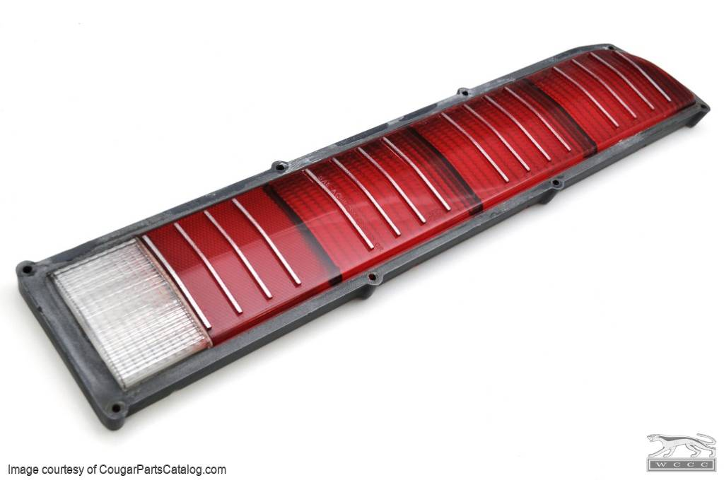 Lens - Taillight - Passenger Side - Grade A - Used ~ 1973 Mercury Cougar - 25576