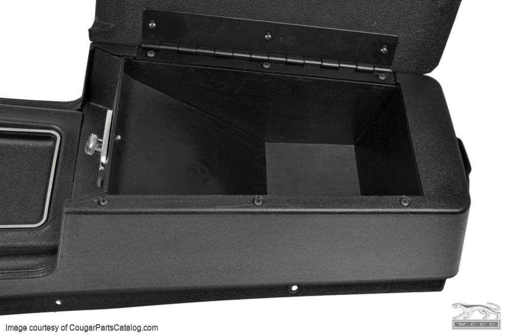 Center Console - Automatic Transmission - without Insert - Three Hump Lid - Repro ~ 1969 Mercury Cougar / 1969 Ford Mustang - 17781