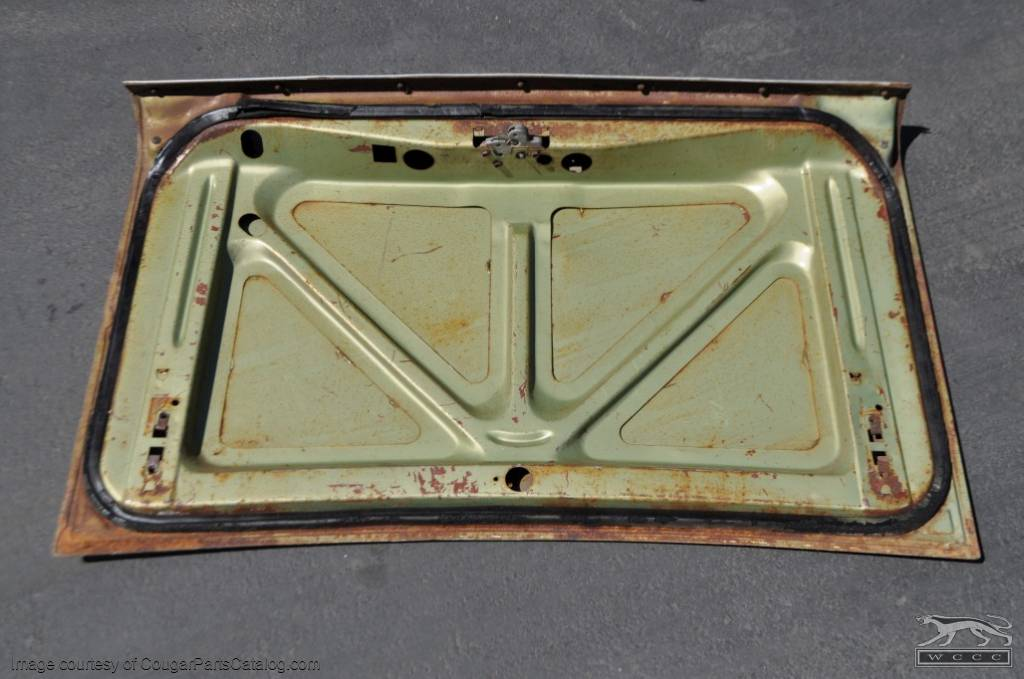 Rear Deck / Trunk Lid - Early - Grade A - Used ~ 1967 Mercury Cougar - 11763