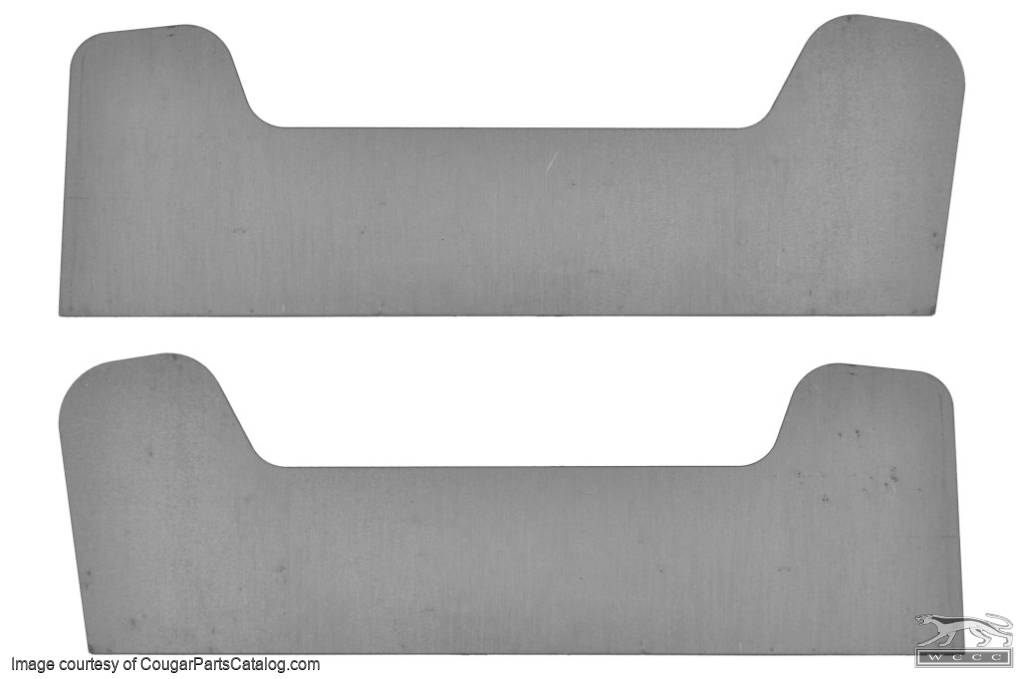 Reinforcement Plates - Shock Tower - Weld In - PAIR - New ~ 1967 - 1970 Mercury Cougar / 1967 - 1970 Ford Mustang - 12-3008