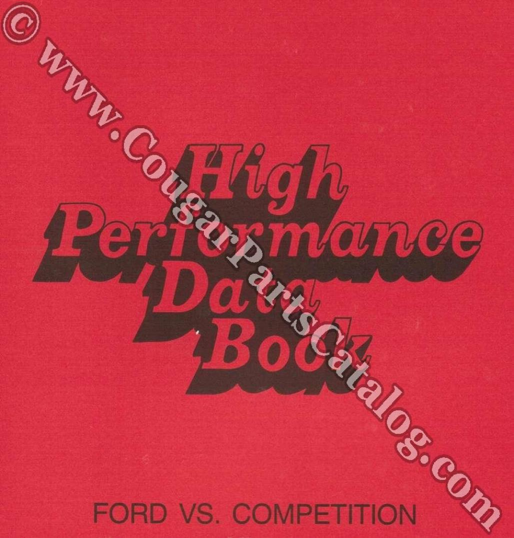 1970 High Performance Book: Ford Vs. Competition ~ 1970 Ford / Mercury - 25953