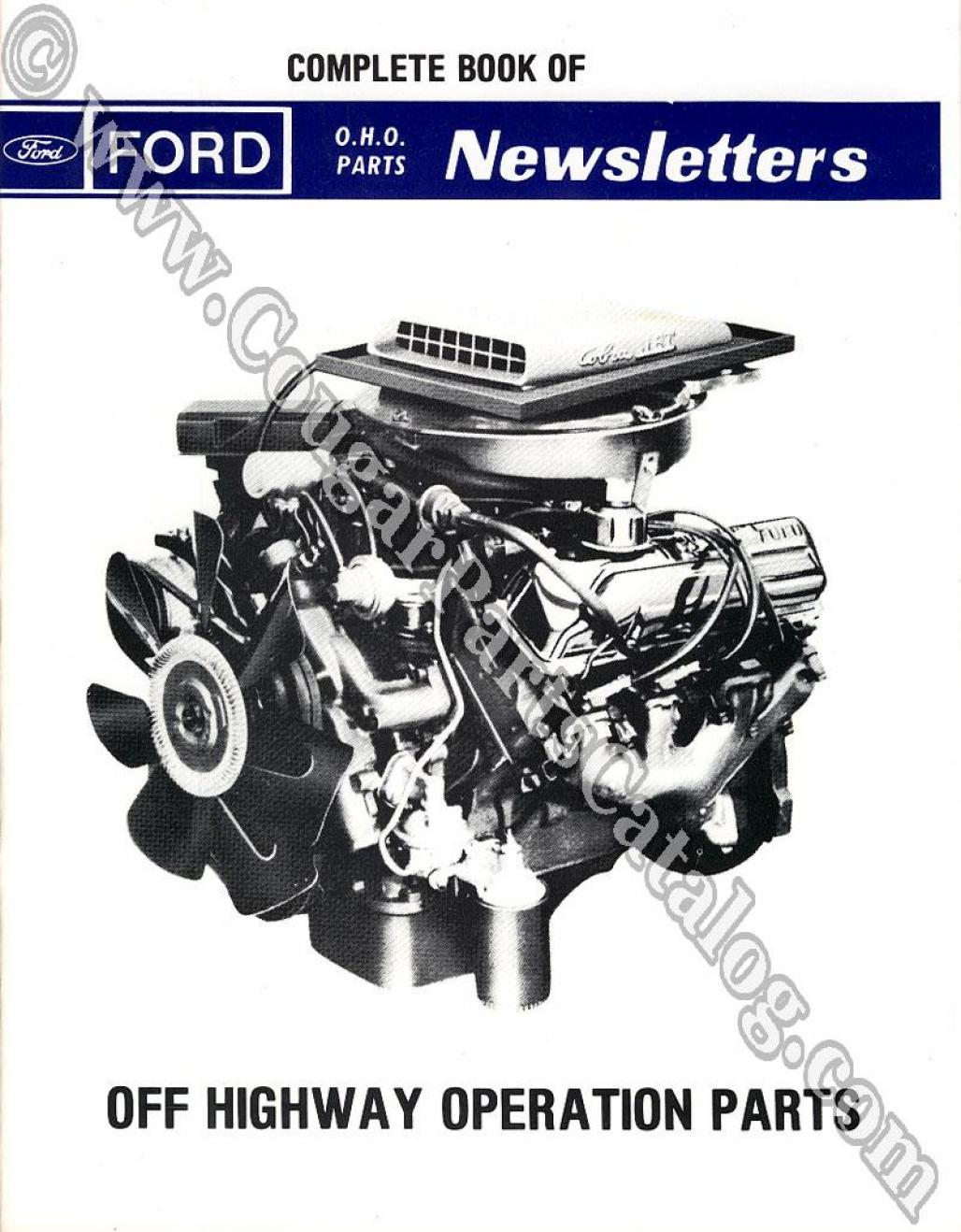 Complete Book of Off Highway Operations Parts Newsletters - Repro ~ 1972 - 1973 Mercury Cougar - 1972 - 1973 Ford Mustang - 1972 - 1973 All Ford - 1972 - 1973 All Mercury - 25954