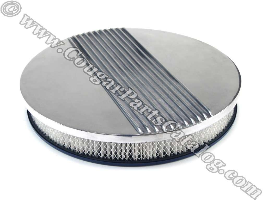 Air Cleaner Assembly - 14 Inch - Finned Aluminum - Cal Custom Style - Repro ~ 1967 - 1973 Mercury Cougar - 26025