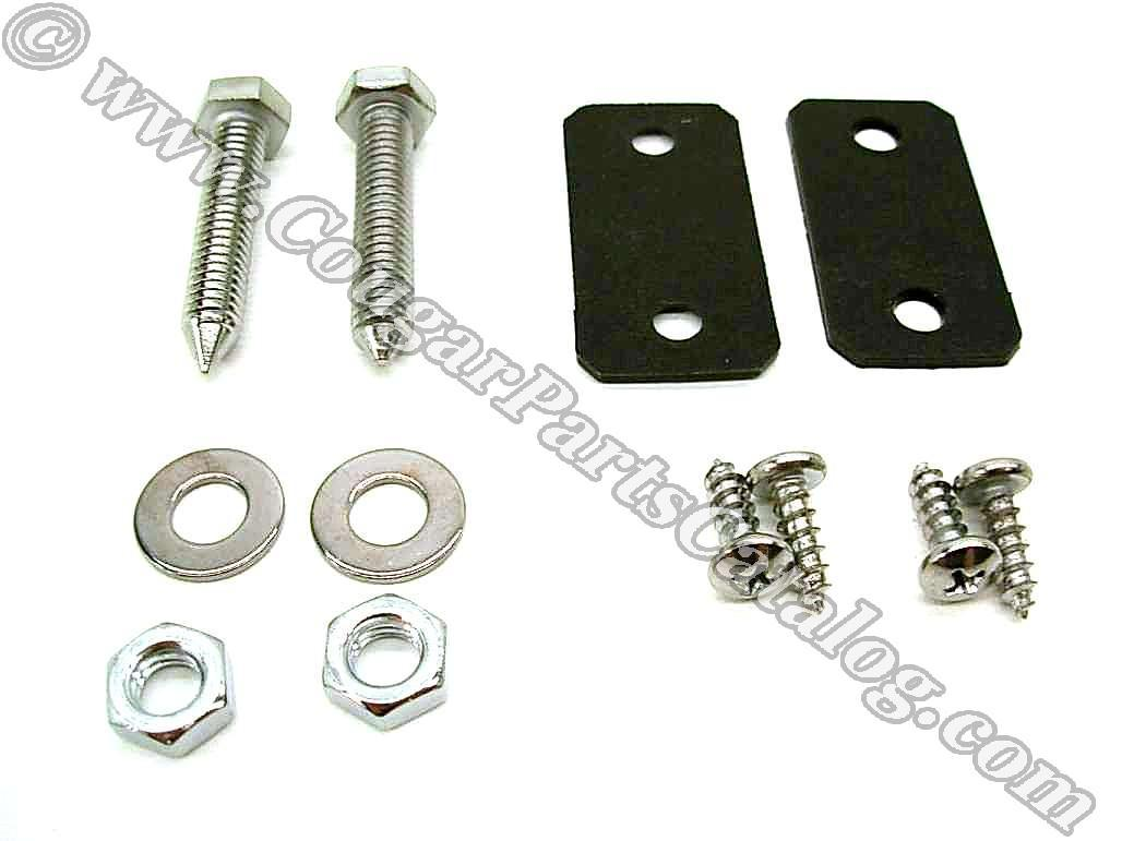 Adjustment Bolt / Striker Kit - Seat Back - Repro ~ 1967 Mercury Cougar / 1967 Ford Mustang - 26066