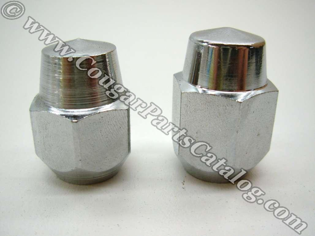 Lug Nut - Styled Steel Wheel - Chrome Acorn - PREMIUM - EACH - Repro ~ 1967 - 1970 Mercury Cougar / 1967 - 1970 Ford Mustang - 26489