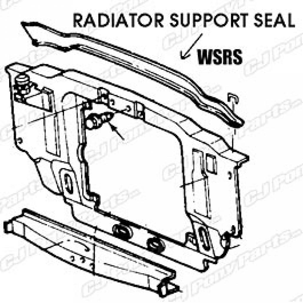 1000700_1 seal radiator support to hood repro ~ 1967 1969 mercury cougar