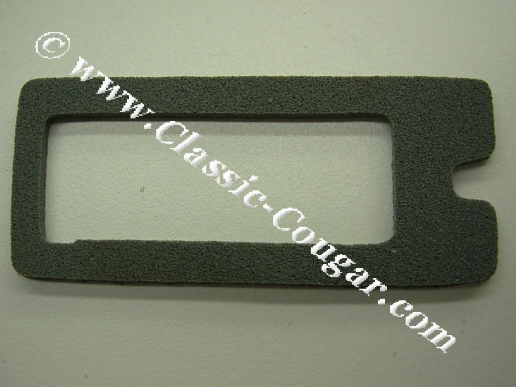 Gasket - Rear License Plate Light Lens - Repro ~ 1969 - 1973 Mercury Cougar / 1969 - 1973 Ford Mustang - 26672