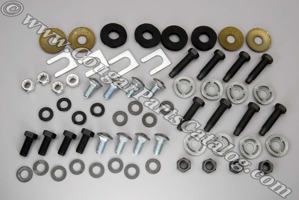 Fastener Kit - Bumper - Complete - Front and Rear - Repro ~ 1967 - 1968 Mercury Cougar - 41147