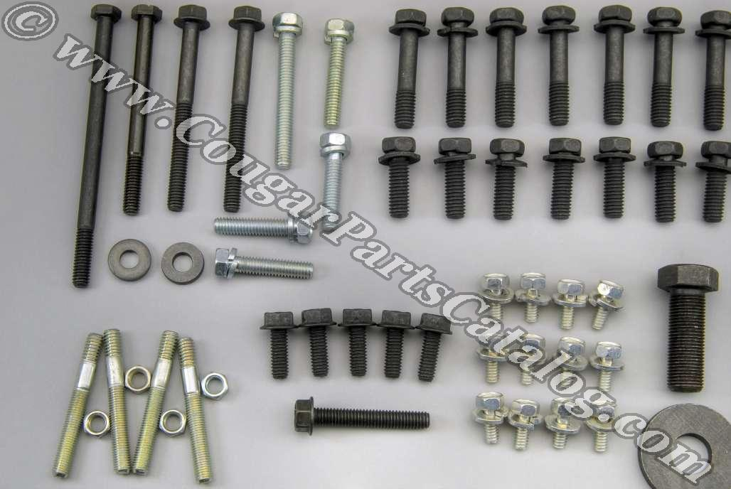 Master Engine Fastener Kit - 289 without A/C - Repro ~ 1967 Mercury Cougar / 1966 - 1967 Ford Mustang - 41150