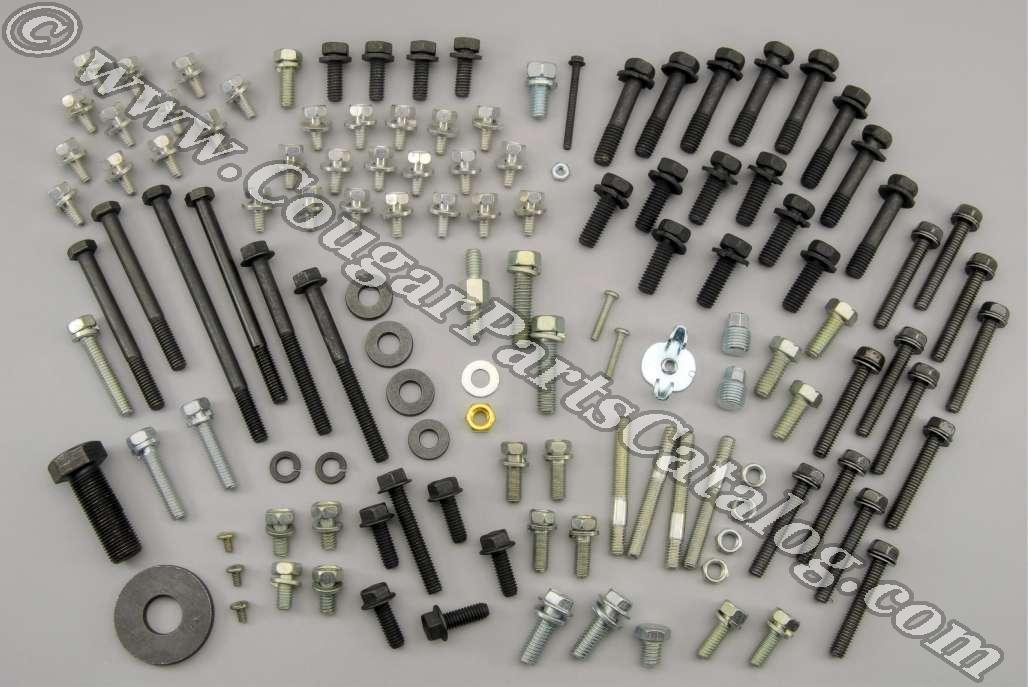 Master Engine Fastener Kit - 289 with A/C  ~ 1967 Mercury Cougar - 1967 Ford Mustang - 41151