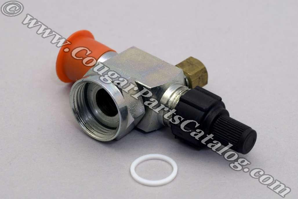 """Service Valve - A/C Discharge Hose - 3/4"""" - Repro ~ 1969 Mercury Cougar / 1969 Ford Mustang - 41794"""