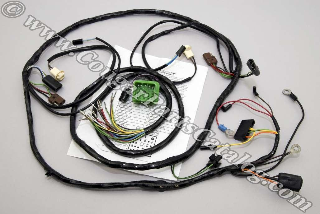 under hood wiring harness xr7 repro 1969 mercury cougar 1969 mercury cougar at west. Black Bedroom Furniture Sets. Home Design Ideas