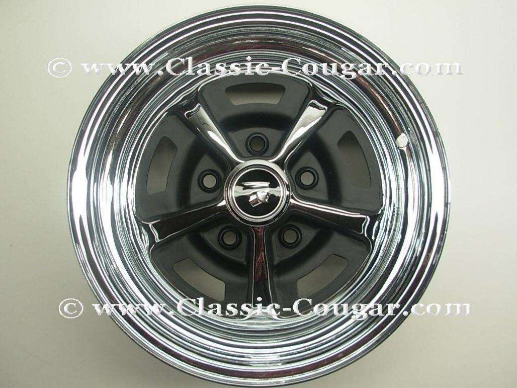 Magnum 500 Wheel - 14 X 6 Inch - Repro ~ 1967 - 1973 Mercury Cougar / 1967 - 1973 Ford Mustang - 18939