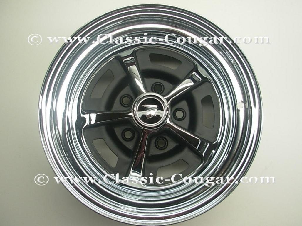 Magnum 500 Wheel - 14 X 7 Inch - Repro ~ 1967 - 1973 Mercury Cougar / 1967 - 1973 Ford Mustang - 18940