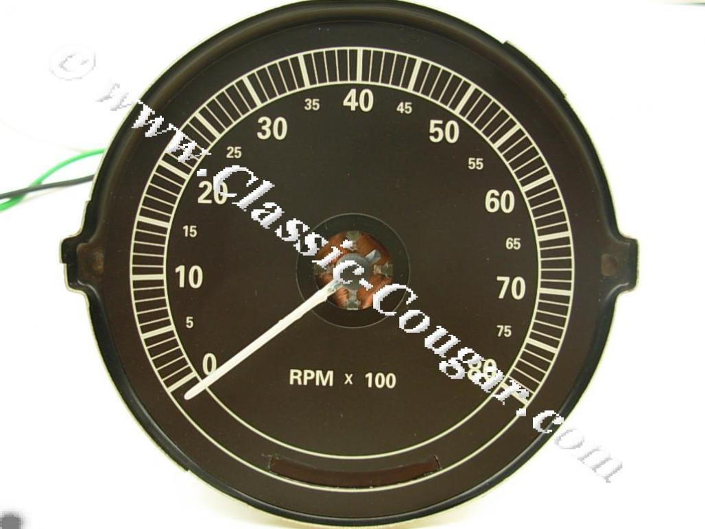 Tachometer Wiring For 68 Mercury Cougar Xr7 Trusted Diagrams 67 Xr 7 8000 Rpm New 1967 1968 1965