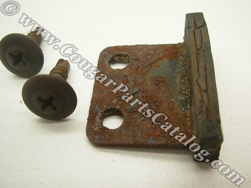 Windshield Rest / Lower Bracket - Used ~ 1969 - 1970 Mercury Cougar / 1969 - 1970 Ford Mustang - 19450