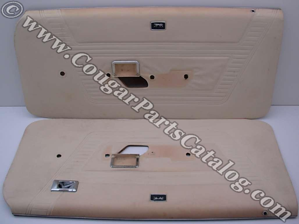 "Door Panels - Standard - PAIR - Grade ""A"" - Used ~ 1970 Mercury Cougar"