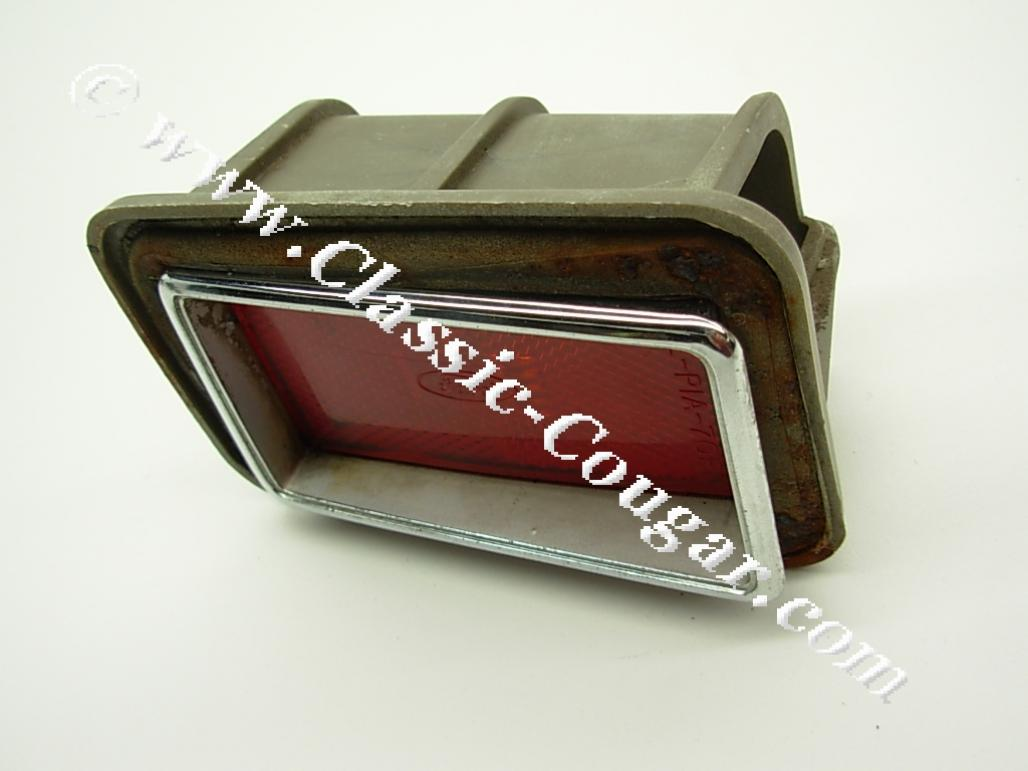 Side Marker / Rear Reflector - Complete Assembly - Passenger Side - Used ~ 1970 Mercury Cougar - 20462