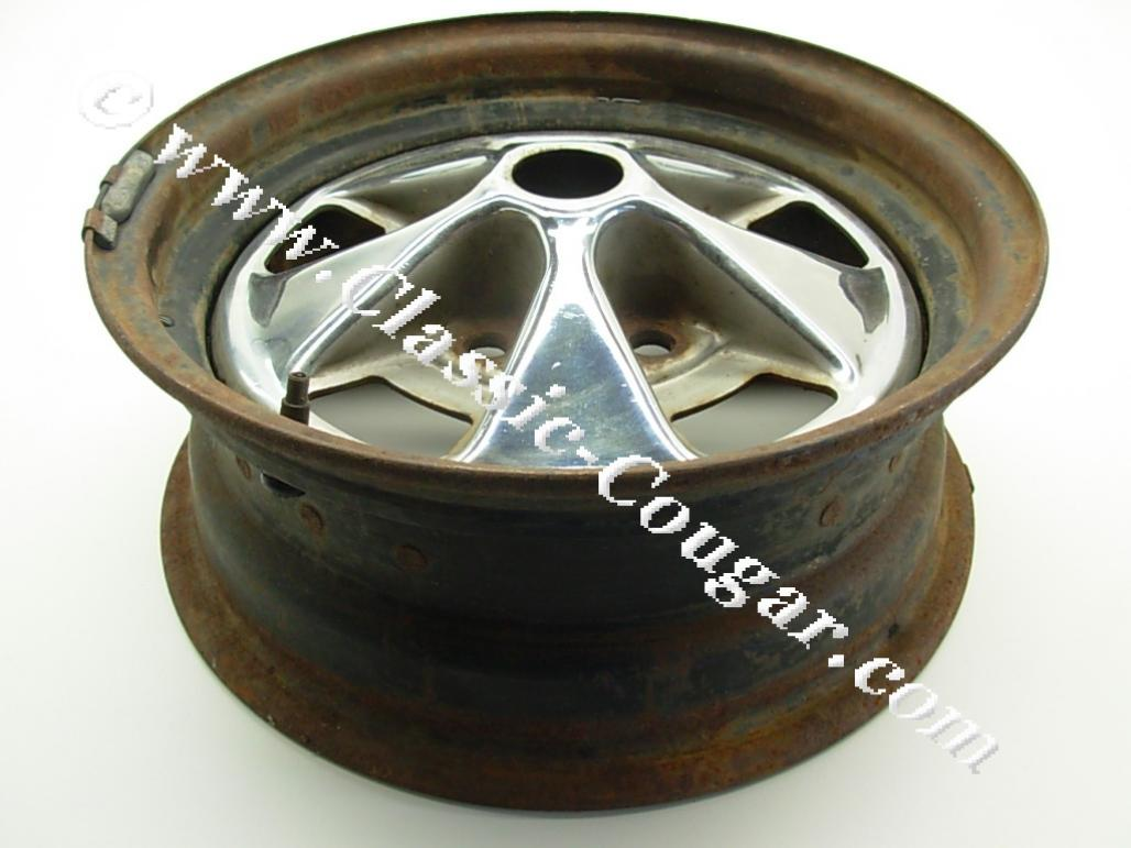 Styled Steel Wheel - 14 X 5-1/2 - Used ~ 1967 Mercury Cougar - 24131