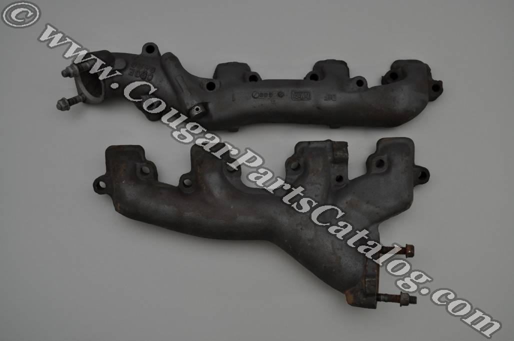 Exhaust Manifolds - 390 / 427 GT-E - PAIR - Used ~ 1968 Mercury Cougar / 1968 Ford Mustang - 24320