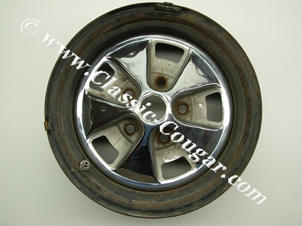 Styled Steel Wheel - 14 X 6 - Used ~ 1968 Mercury Cougar - 24474