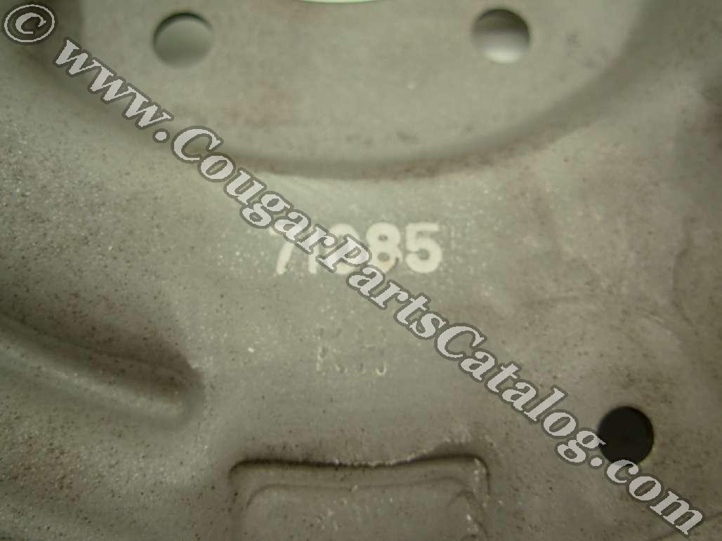 Brake Backing Plate - Rear Drum - 2 inch - Passenger Side - Used ~ 1967 - 1973 Mercury Cougar / 1967 - 1973 Ford Mustang - 24616