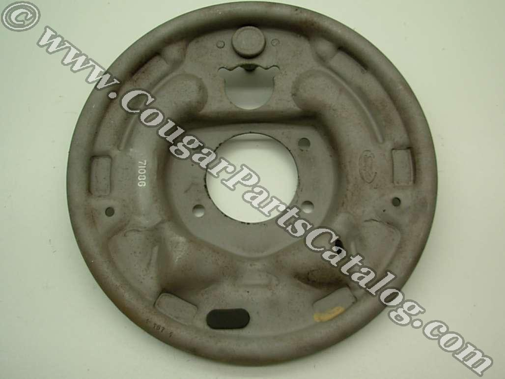 Brake Backing Plate - Rear Drum - 2 Inch - Driver Side - Used ~ 1967 - 1973 Mercury Cougar / 1967 - 1973 Ford Mustang - 24618