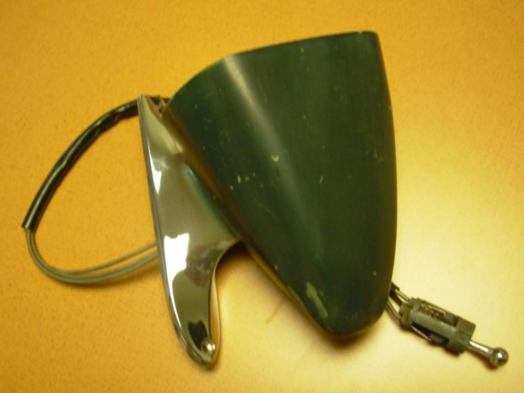Side View Mirror - Sport - Driver Side - Remote - XR7 - Chrome Base - Used ~ 1969 Mercury Cougar - 18547