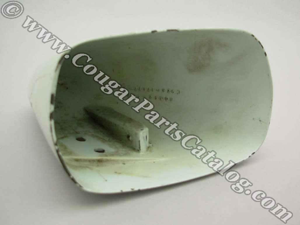 Side View Mirror - Sport - HEAD ONLY - Passenger Side - Used ~ 1969 - 1973 Mercury Cougar / 1969 - 1973 Ford Mustang / Torino - 24774
