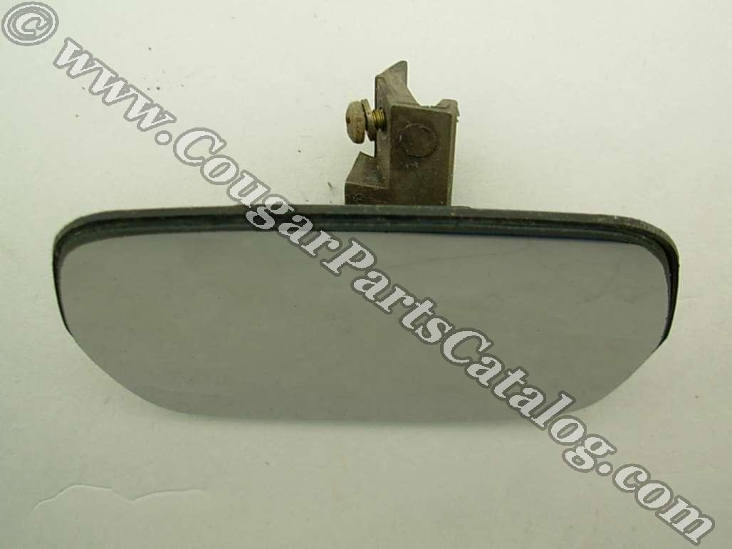 Lens Assembly - Sport Mirror - Passenger Side - Used ~ 1969 - 1973 Mercury Cougar / 1969 - 1973 Ford Mustang / Torino - 24775