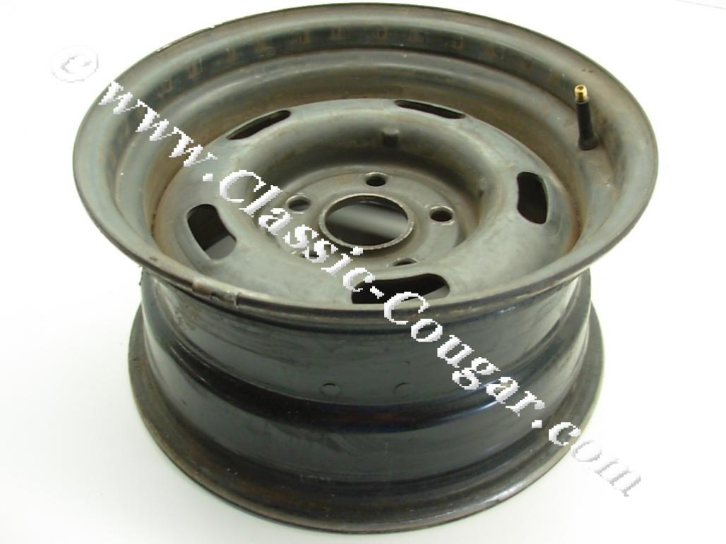 Styled Steel Wheel - 14 X 7 - Used ~ 1971 - 1973 Mercury Cougar / 1971 - 1973 Ford Mustang / Torino - 25202