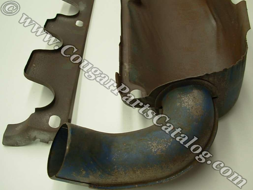 Heat Shield - Exhaust Manifold - 351-2V - Used ~ 1972 - 1973 Mercury Cougar / 1972 - 1973 Ford Mustang - 25499