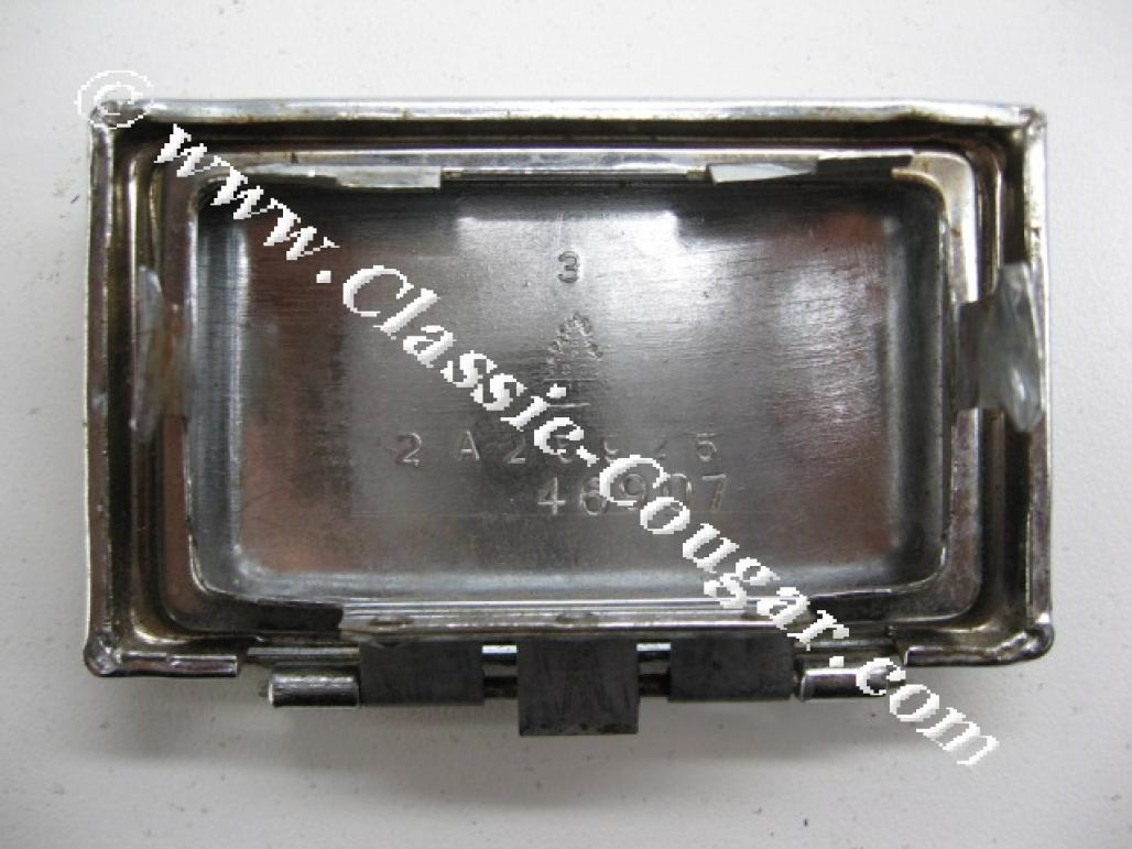 Lid / Retainer - Ashtray - Center Console - Grade B - Used ~ 1967 - 1968 Mercury Cougar / Ford Mustang - 19868