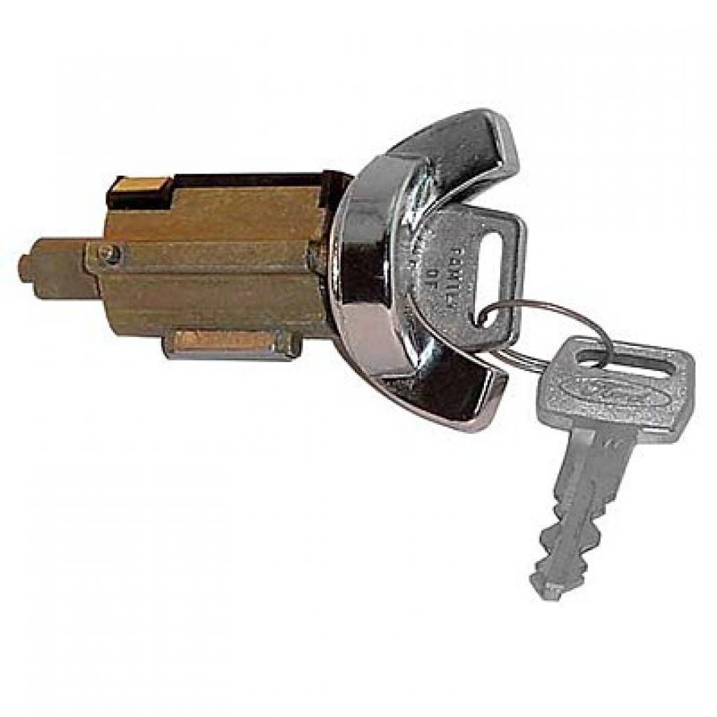Ignition Lock Cylinder - w/ 2 Keys - Repro ~ 1970 - 1973 Mercury Cougar / 1970 - 1973 Ford Mustang - 19970