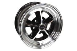 Legendary 1969 / 1970 Shelby - Aluminum Wheel - 15 X 7 - Black Gloss - Repro ~ 1967 - 1973 Mercury Cougar / 1967 - 1973 Ford Mustang 1967,1967 cougar,1967 mustang,1968,1968 cougar,1968 mustang,1969,1969 cougar,1969 mustang,1970,1970 cougar,1970 mustang,1971,1971 cougar,1971 mustang,1972,1972 cougar,1972 mustang,1973,1973 cougar,1973 mustang,C7W,C7Z,C8W,C8Z,C9W,C9Z,D0W,D0Z,D1W,D1Z,D2W,D2Z,D3W,D3Z,cougar,ford,ford mustang,mercury,mercury cougar,mustang,