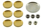 Brass and steel freeze plug or expansion plug set for any Ford 351C engine. 1970 74 Mercury Cougar and 1970 73 Ford Mustang. 12 piece set with...