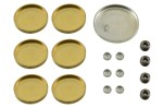 Brass and steel freeze plug or expansion plug set for any Ford 390  427  428CJ engine. 1967 70 Mercury Cougar and 1967 70 Ford Mustang. 20 piece set...