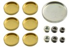 Brass and steel freeze plug or expansion plug set for any Ford 429  460  429CJ engine. 1971 Mercury Cougar and 1971 Ford Mustang. 13 piece set with...