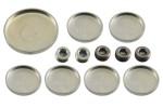 Steel freeze plug or expansion plug set for any Ford 351C engine. 1970 74 Mercury Cougar and 1970 73 Ford Mustang. 12 piece set with threaded screw in...