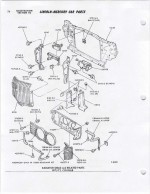 900KB Downloadable PDF file of the 1971  1972 Mercury Cougar Exploded View Grille diagram used by Ford Technicians. You will receive a download link...