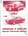 Vacuum Schematic Manual - Repro ~ 1967 Mercury Cougar / 1967 Ford Mustang / Shelby