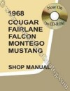 CD-ROM - Intermediate Shop Manual - Repro ~ 1968 Mercury Cougar / 1968 Ford Mustang - 42074
